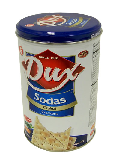 Soda Dux Crakers Tin 16oz