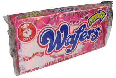 Wafer Straberry Cookies 18p